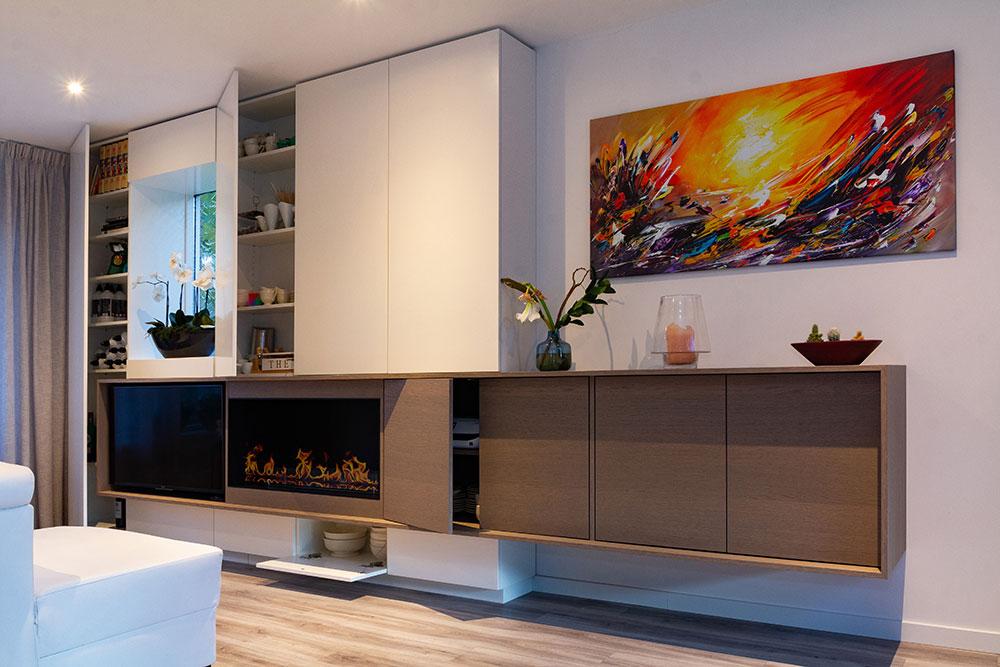 Prachtig Tv Meubel.Modern En Sfeervol Haard En Tv Meubel Mooii Interieurbouw